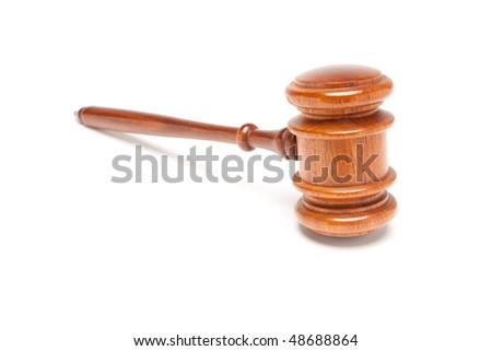 Gavel Isolated on a White Background.
