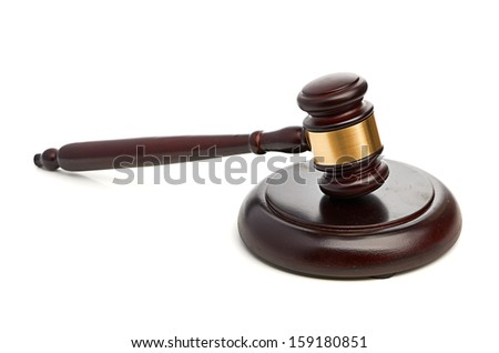 Gavel isolated on white background