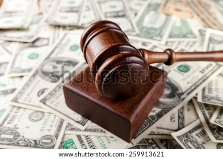 Gavel, lawyer, auction. - stock photo