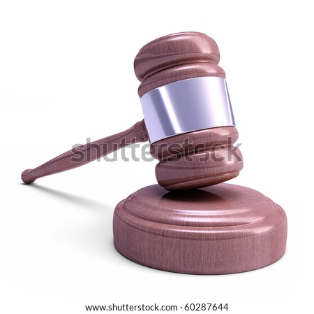 Gavel - Wooden mallet of judge. Highly detailed texture. - stock photo