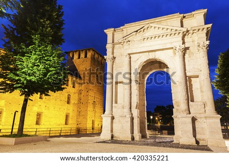 Gavi Arch in Verona. Verona, Veneto, Italy - stock photo