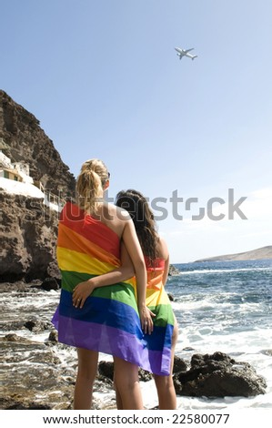 Gay and lesbian travels concept - stock photo