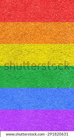 Gay and LGBT flag. Gay culture symbol. Handmade. Textured.  - stock photo