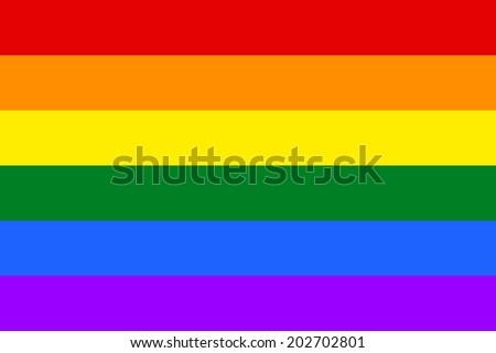Gay and LGBT rainbow flag, culture symbol. Raster.  - stock photo