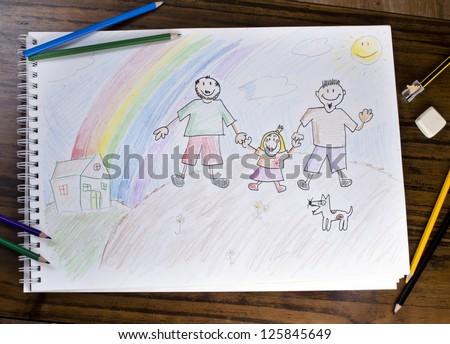 Gay Family - stock photo