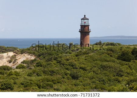 Gay Head light is located in Martha's Vineyard, Massachusetts. - stock photo
