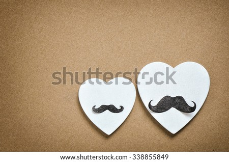 Gay holidays concept for Valentine's Day, wedding, engagement or party invitation  - stock photo