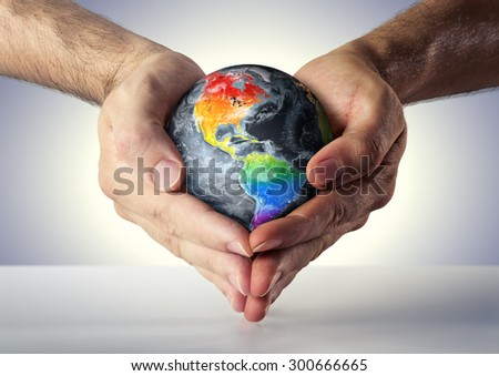 gay love - pride and equality in Usa - lgbt concept - Usa, elements of this image furnished by NASA  - stock photo