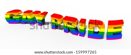 gay pride 3D concept - stock photo