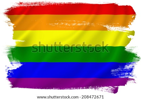 Gay pride flag texture background.