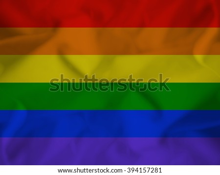 gay pride flag with some folds in it