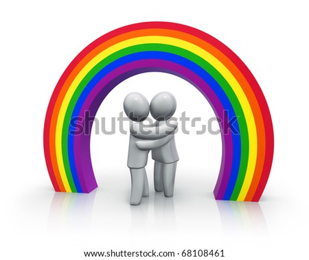 Gay wedding - stock photo