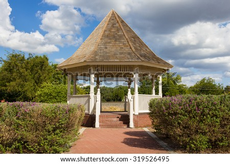 gazebo from front - stock photo