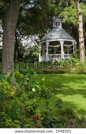 gazebo in a park - stock photo