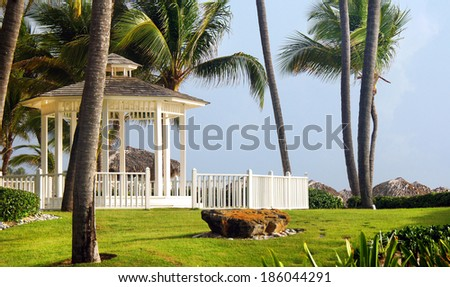 Gazebos - stock photo