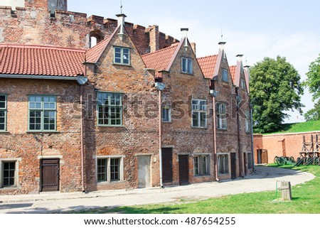 Gdansk, Poland, August 27, 2016: Wisloujscie Fortress, view of the historic fort.