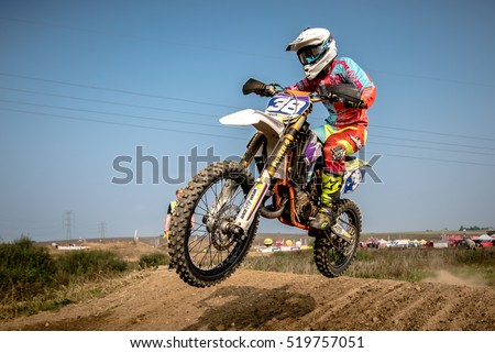 GDANSK, POLAND - SEPTEMBER 10 : rider on Polish Motocross Championship Poland, Gdansk 10 Septemeber 2016