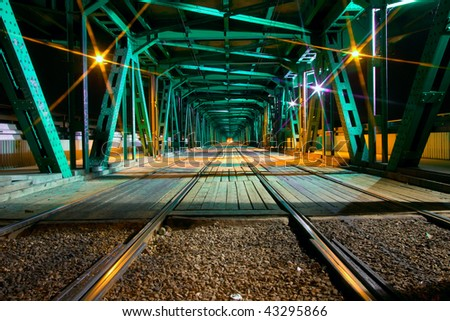 Gdanski bridge in Warsaw - stock photo