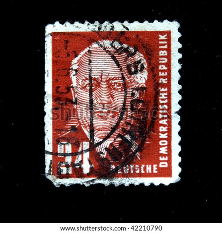 GDR - CIRCA 1950: A stamp printed in GDR (East Germany) shows Ernst Thalmann, circa 1950