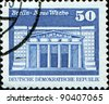 GDR - CIRCA 1973: A stamp printed in GDR (East Germany) shows New Guardhouse, Berlin, circa 1973 - stock photo
