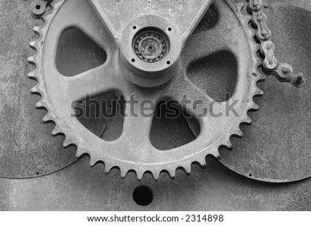 Gear and Chain - stock photo