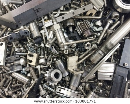 gear and screw for machine  - stock photo