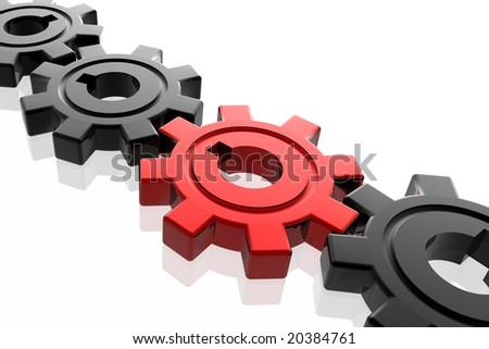 Gear business work concept