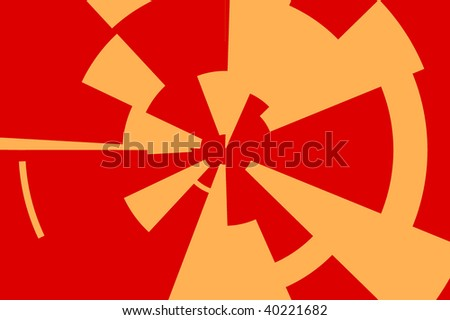 gear design of red and orange colors - stock photo