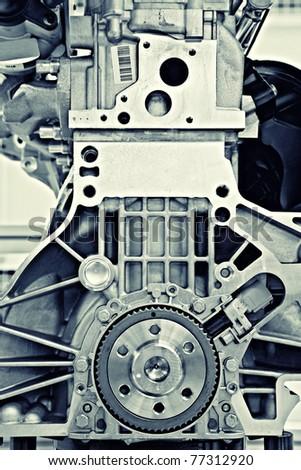 gear in a motor - stock photo