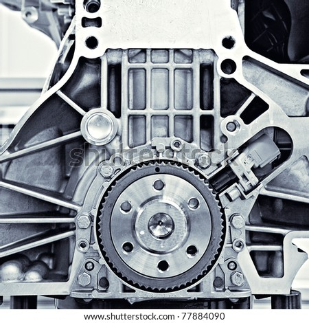 gear in the car motor - stock photo