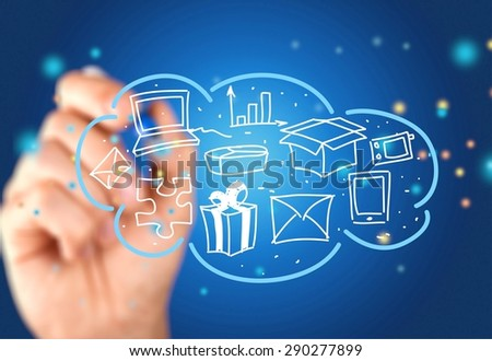 Gear, Industry, Connection. - stock photo