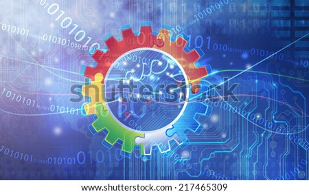 gear info graphic elements - stock photo