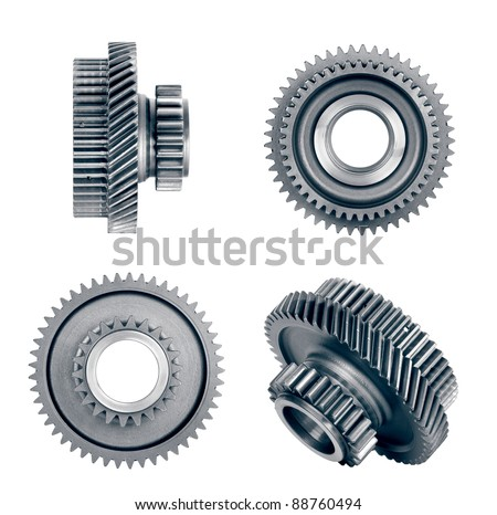 gear isolated on white - stock photo