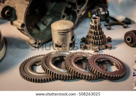 Gear parts used for assembly.