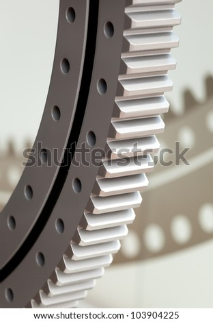 Gear ring - stock photo