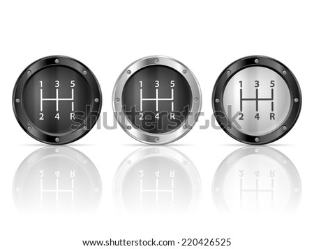 gear shift 2 illustration. - stock photo