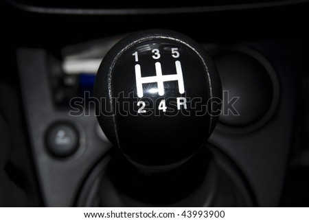 Gear shift knob - stock photo