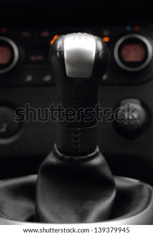 Gear stick and control panel