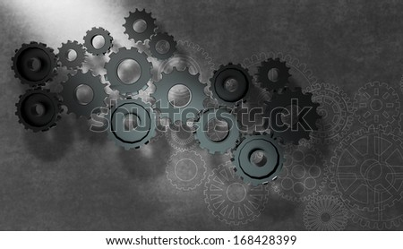 gear wheel cog wheel illustration as concept - stock photo