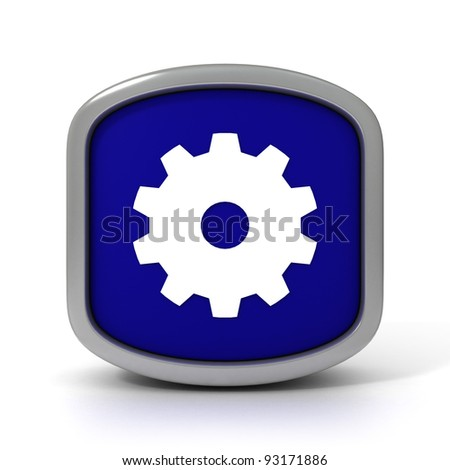 Gear Wheel Sign on a White Background. Part of a series. - stock photo