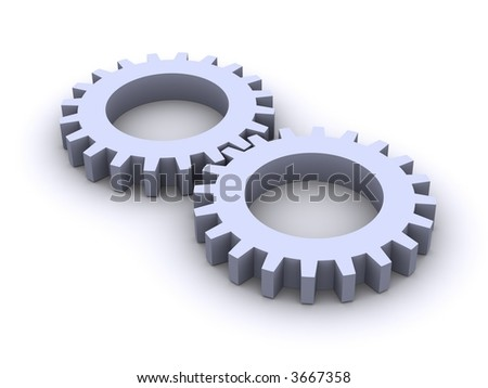Gear Wheels - stock photo