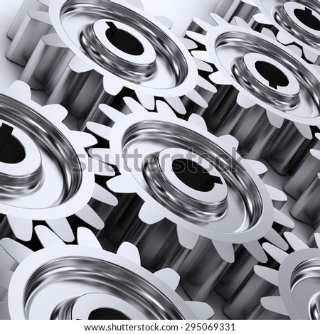 Gear wheels background. - stock photo