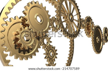 Gear with a sense of luxury - stock photo