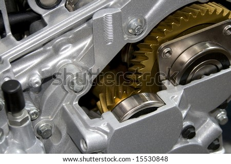 Gearbox cut-through view - stock photo