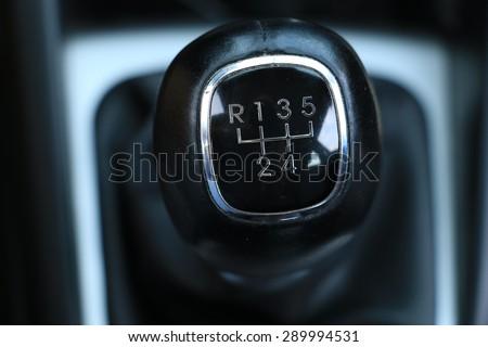 Gearbox lever - stock photo