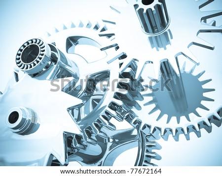 Gears. - stock photo