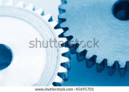 gears as industrial technology concept - stock photo