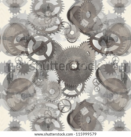 gears background - stock photo