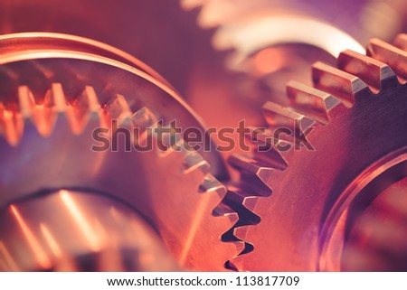 gears close-up - stock photo