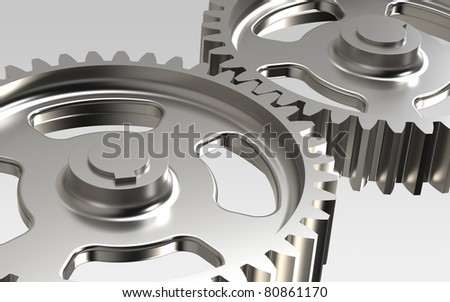 Gears. Close-up of Machine Gears - stock photo
